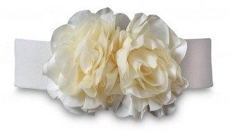 FLOWER BELT Ivory