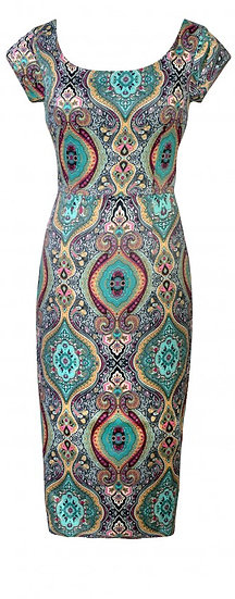 Persia Fitted Dress Teal