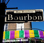 Rue Bourbon New Orleans during Mardi Gra