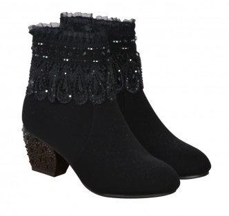 Baroque Boots Black