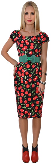 Cherry Fitted Dress