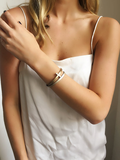 Cross Bracelet - Gold - Wholesale
