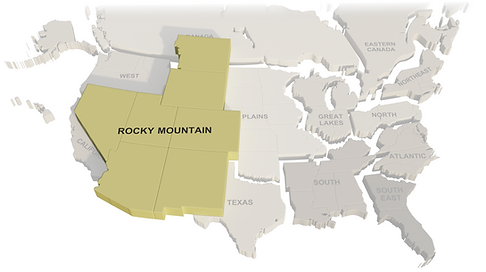 map of rocky mountain
