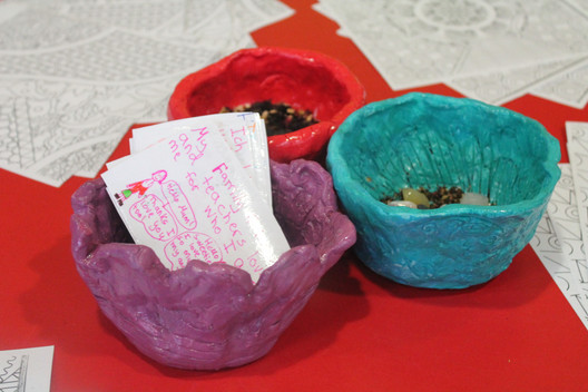 Clay Containers, wish, dreams and hopes.