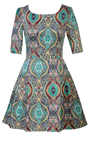 Persia Dress Short Teal