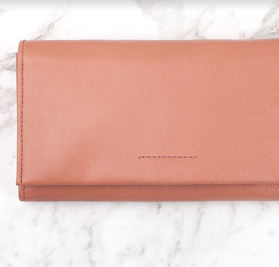 Ovae the Label, Eva Leather Wallet that Fits an Iphone | Rose