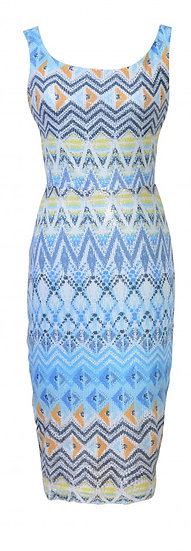 Shimmer Dress Blue
