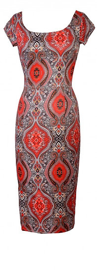 Persia Fitted Dress Red