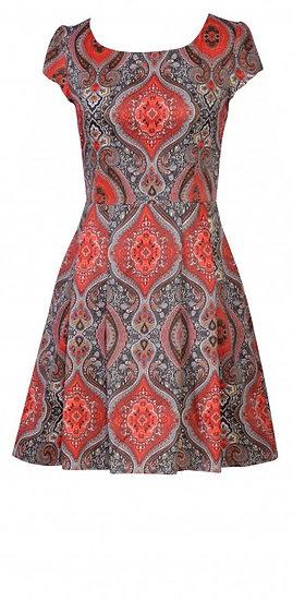 Persia Cap Dress Short Red