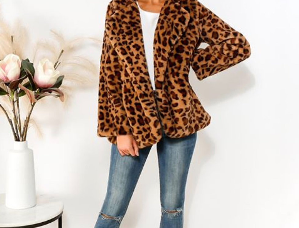 SOFT LEOPARD PRINT JACKET