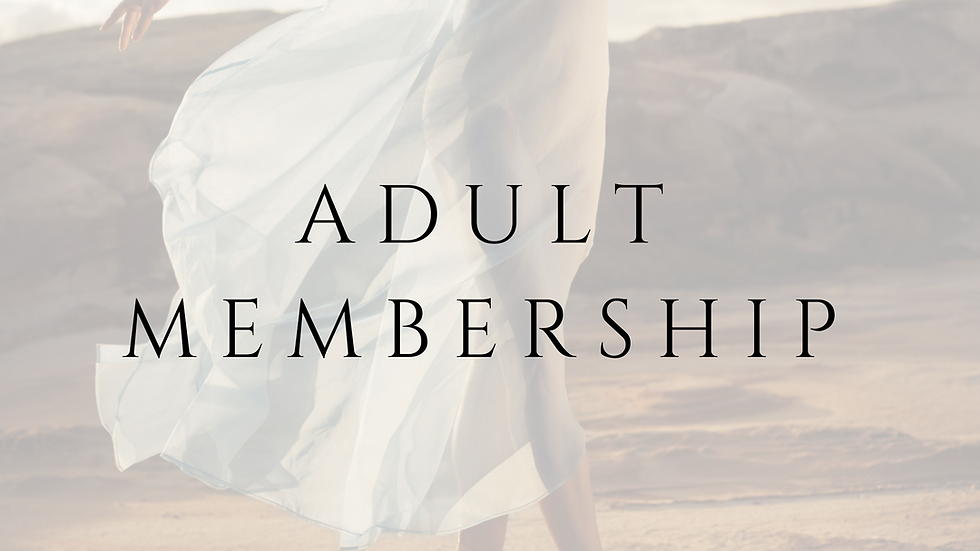 ADULT MEMBERSHIP - 1 YEAR