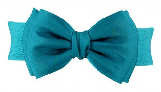 BOW BELT SATIN Teal