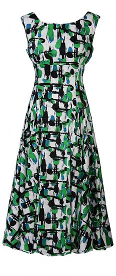 Abstract Panel Dress Green