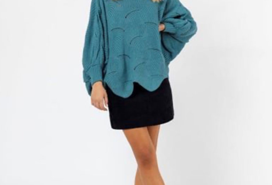 BATWING KNIT - TEAL