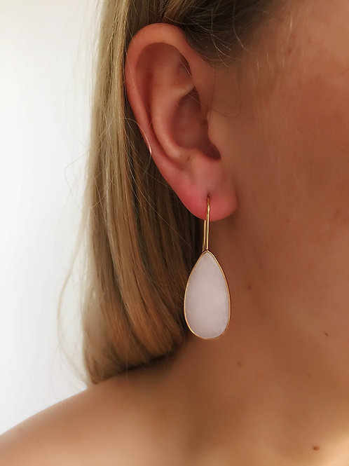 Tear Drop Earrings - Rose