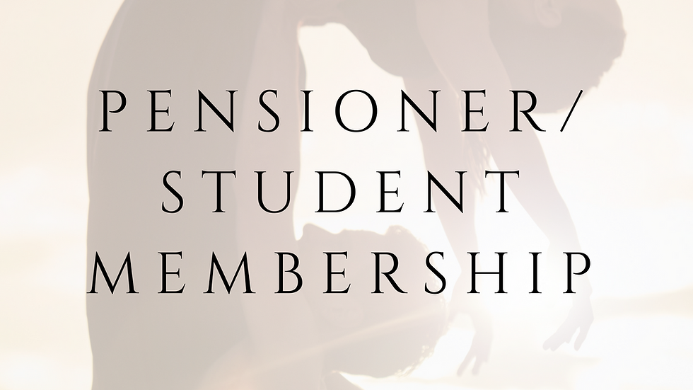 PENSIONER/STUDENT MEMBERSHIP  - 1 YEAR
