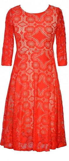 Lana Sleeve Dress Red