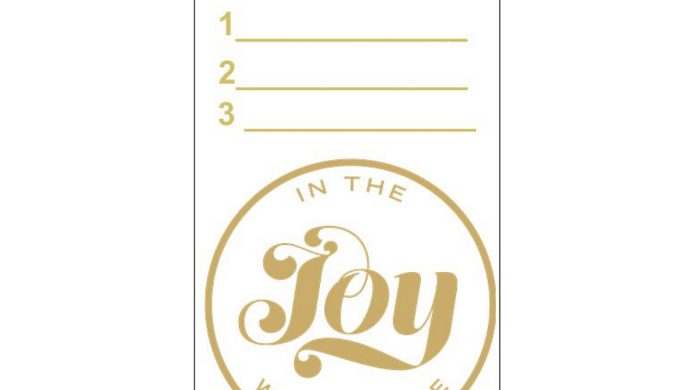JOY GOAL CARD