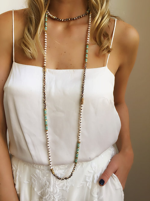 Jewelled Necklace - Mint