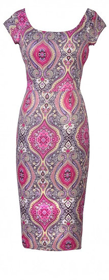 Persia Fitted Dress Pink