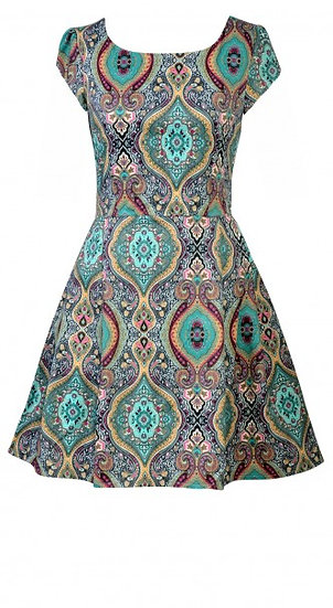 Persia Cap Dress Short Teal