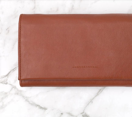 Ovae the Label, Eva Leather Wallet that Fits an Iphone | Chestnut