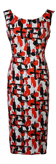 Abstract Fitted Dress