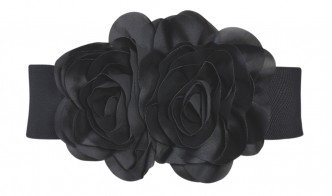 FLOWER BELT Black