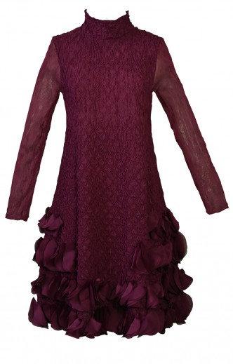 Puff Dress Burgundy
