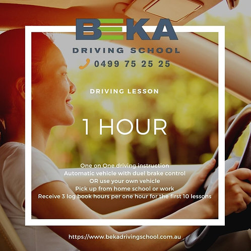 ONE HOUR DRIVING LESSON