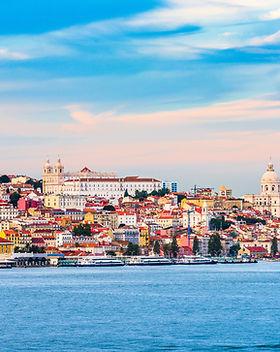 Lisbon, Portugal skyline on the Tagus Ri