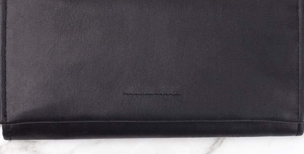 Ovae the Label, Eva Leather Wallet that Fits an Iphone | Black