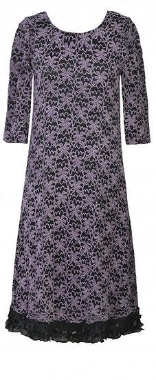 Trifle Dress Ppl/Blk