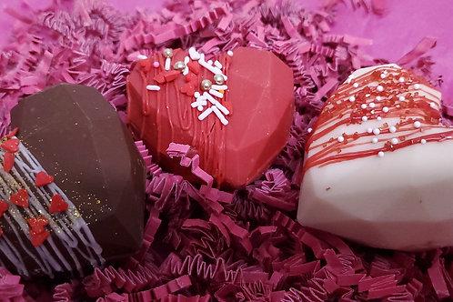 Geometric Heart Chocolate Bombs