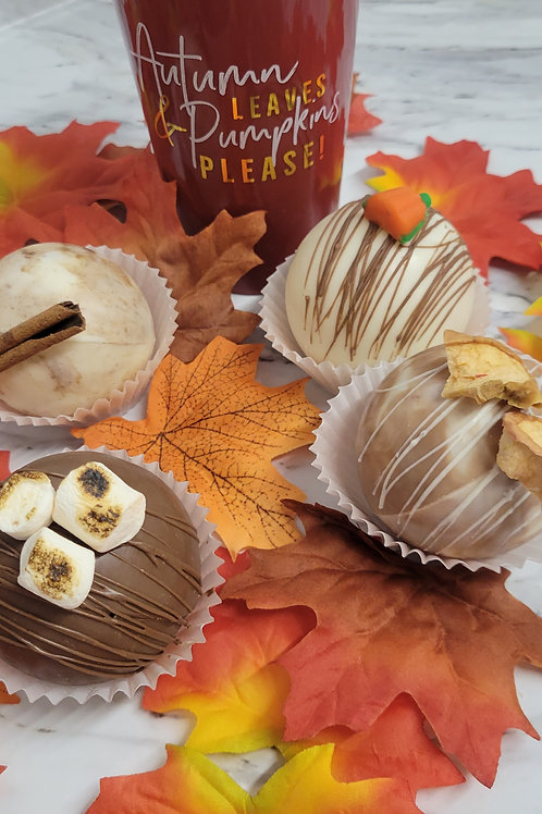 Fall 4 Pack Hot Chocolate Bombs