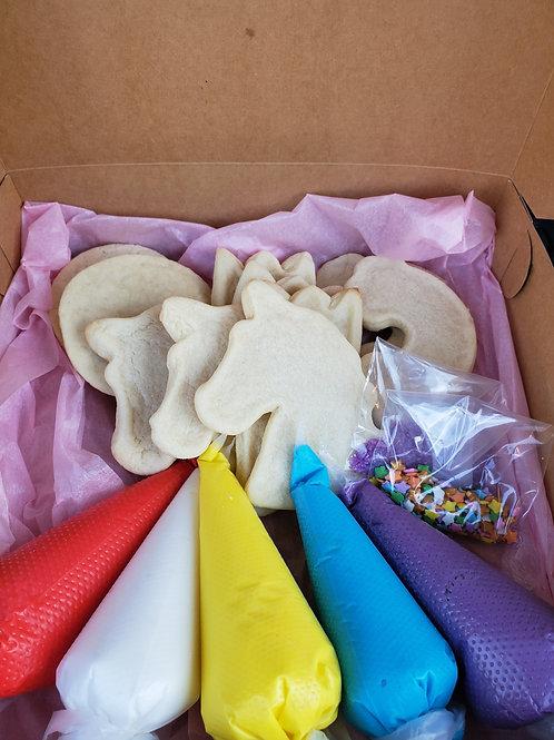 Unicorn cookie decorating kit