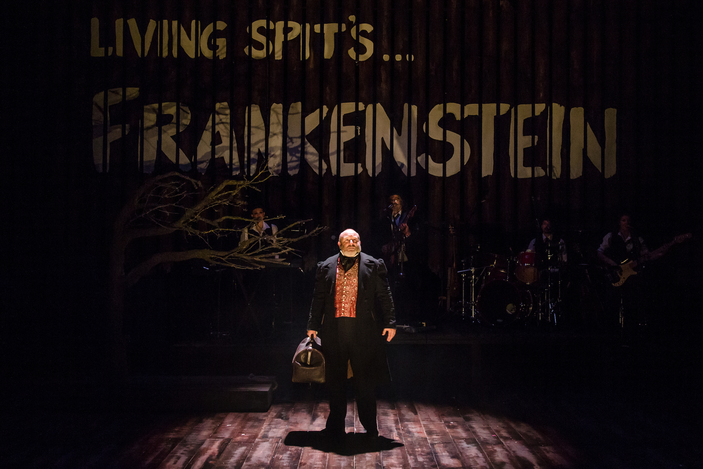Howard Coggins in Frankenstein at Salisbury Playhouse (Credit The Other Richard) 2