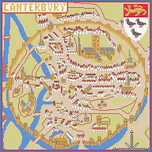 canterbury cathedral | chaucers canterbury tales|heraldry|gift for mum gran|english history|