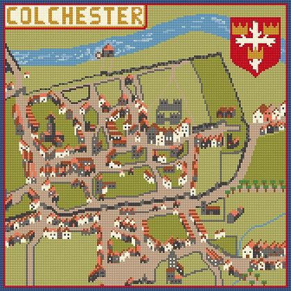 Historic Colchester CANVAS ONLY