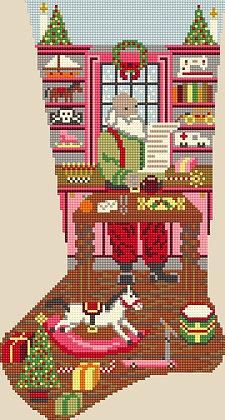 Santa's Workshop - Pinks CANVAS ONLY