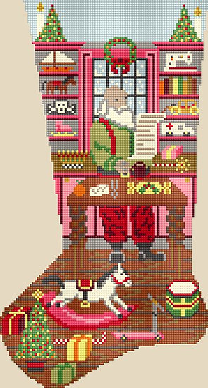 Santa's Workshop - Pinks CANVAS ONLY