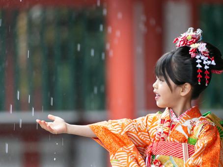 雨の日の七五三
