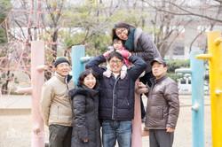 3世代の家族写真