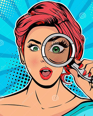 woman-detective-looking-magnifying-glass