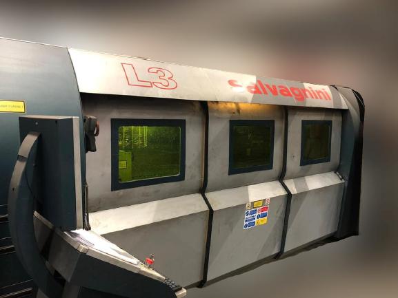 Impianto taglio laser fibra Salvagnini l3 3kw