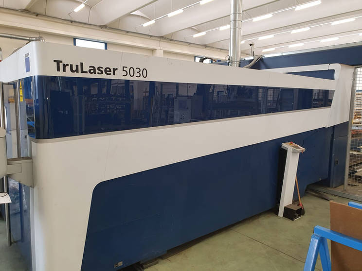Taglio laser TRUMPF TruLaser 5030 FIBER