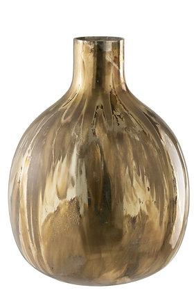 Vase Marge Glass Antique Gold