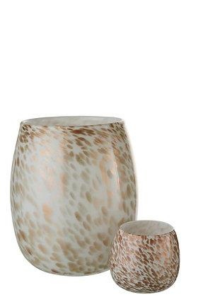 Gold White Vase