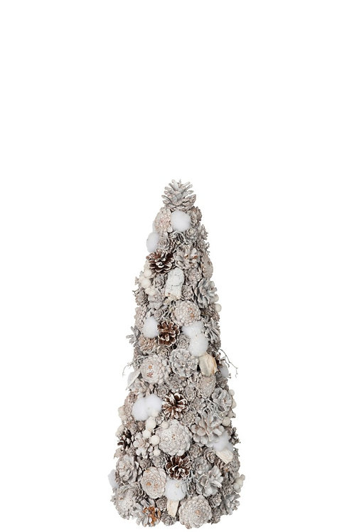 Cone Pinecones Mix White