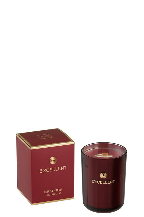 Scented Candle Excellent Rose Champagne Red Small-50hours